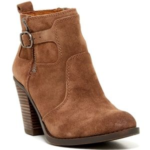 LUCKY BRAND EVERALDA (DARK BROWN) BOOTIE